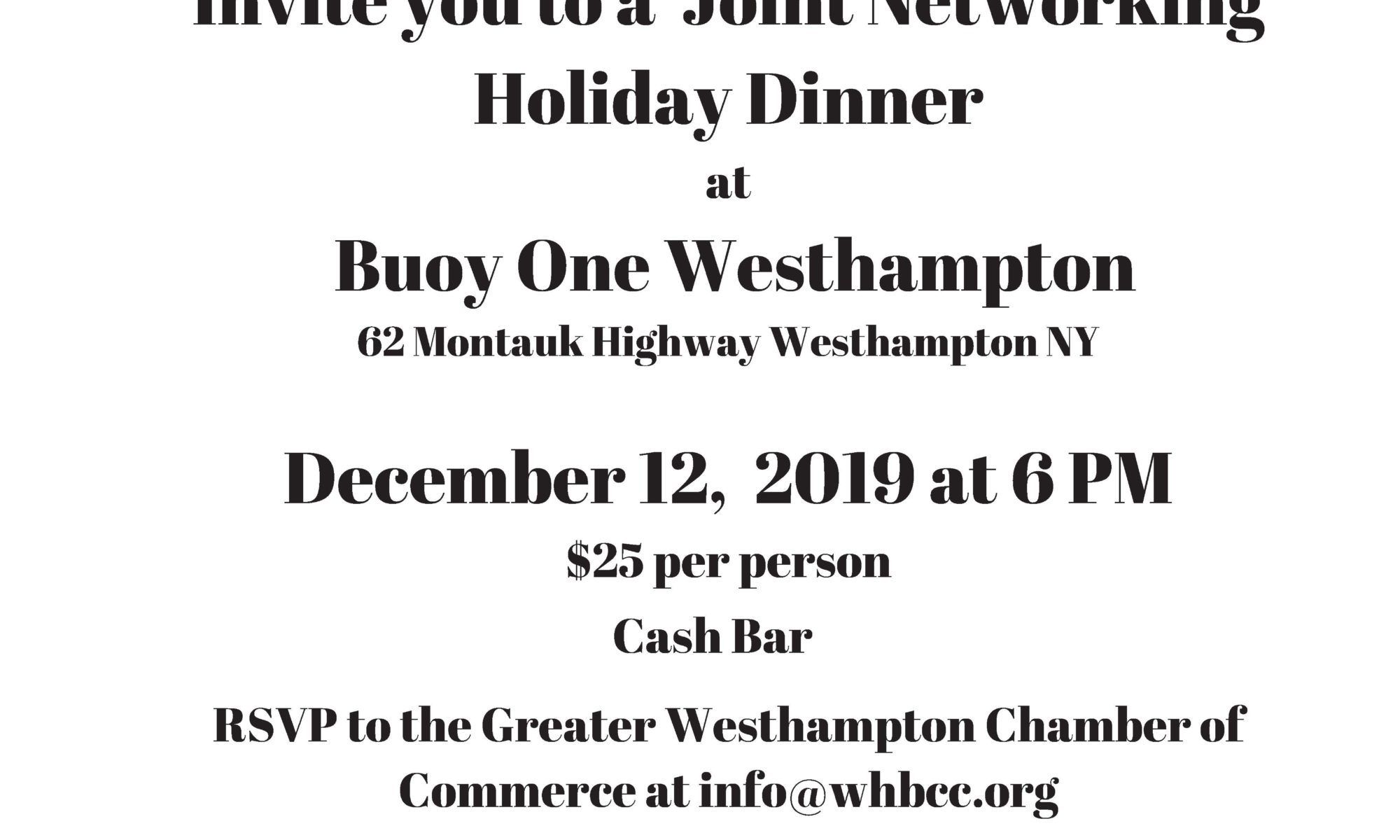 Chamber Holiday Party 2019
